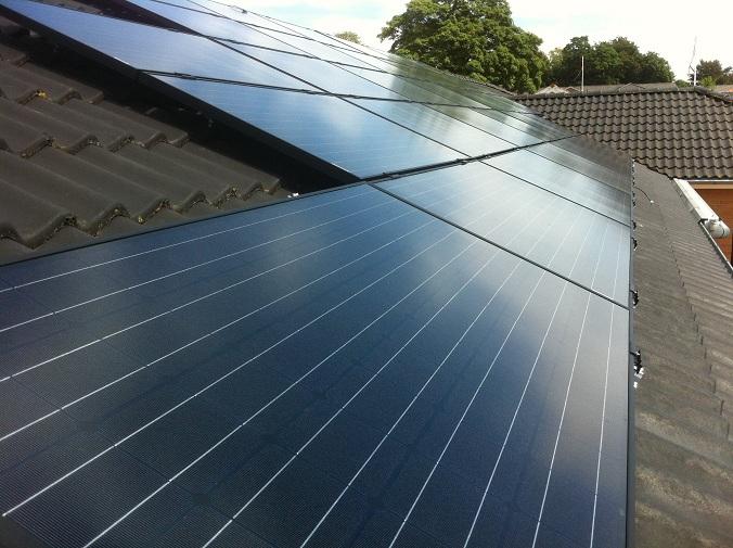 Monteret Solcelleanlæg