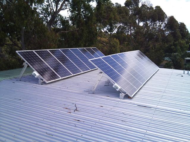 Stativ-monterede solceller