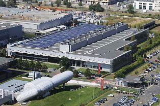 Ferrari Fabrik i Italien med solcelleanlæg