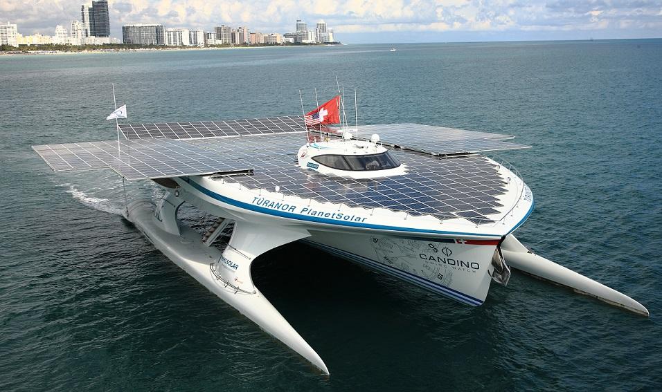Den solcelledrevne båd 'Turanor'