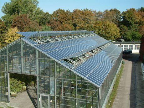 Solceller på drivhus