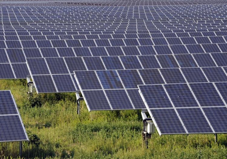 Jordmonterede solcelleanlæg